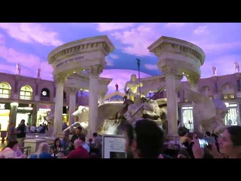 Caesars Palace Las Vegas Casino walk through tour Forum Shoppes Spago