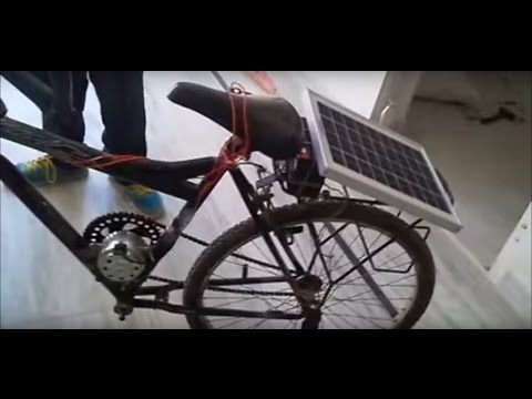 A Mechanical Project-How to make solar electric cycle in very easy step