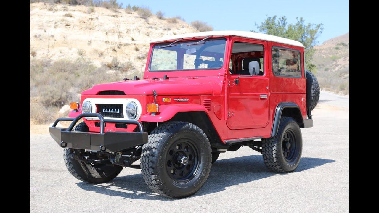 Jeeps For Sale >> 1974 Red FJ40 V8 resto mod for sale at TLC! - YouTube