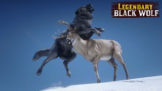 Playing as Legendary Black WOLF in Red Dead Redemption 2 PC