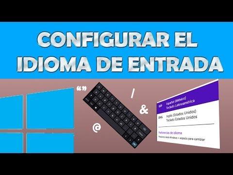 Configuracion del Teclado en Windows 8 & 8.1 - Orden de Teclas