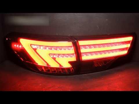 Задние тюнинг фонари Toyota Highlander 3 14 светодиодные, тонированные