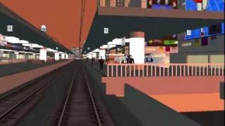 RailSimでバブルのころの東京駅の情景を表現してみました。遠距離恋愛っ...