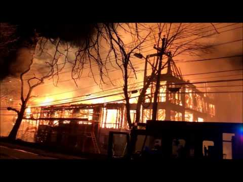 (READ DESCRIPTION) -  VIDEO 1 OF MASSIVE INFERNO ON BOYDEN AVENUE AT AVALON APARTMENTS IN MAPLEWOOD.
