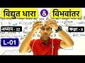 विद्युत धारा एवं विभवांतर | Electricity & Potential difference in Hindi L-01