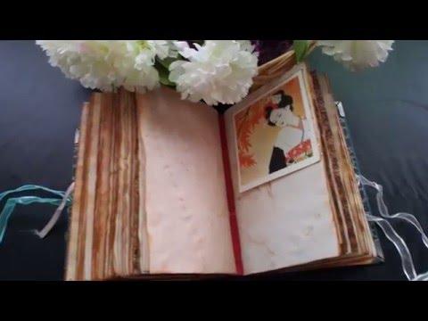 JOURNAL FLIP || Japanese Art Inspired Vintage Journal (SOLD)