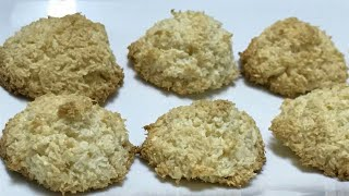 2 Ingredients Coconut Macaroons||Eggless Coconut Macroons Recipe by kitchen with Fatima