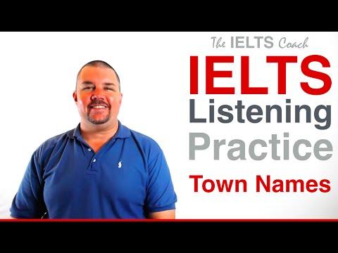 IELTS Listening Practice - Spelling Test - Town Names