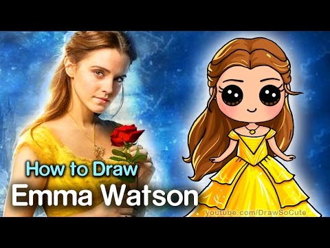 How to Draw Belle - Beauty and the Beast - Emma Watson