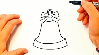 How to draw a Bell | Bell Easy Draw Tutorial