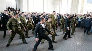 Menin Gate, Ypres - Anzac's perform the Haka