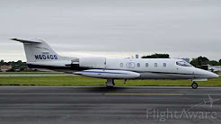 Learjet 35A Flight with POV Camera