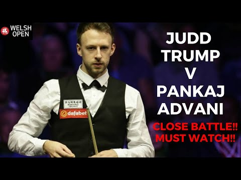 Pankaj Advani snooker counter clearance against Judd trump!!! Welsh open snooker |