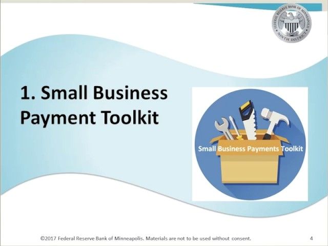 Getting the Most Out of the Small Business Payments Toolkit