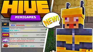 Hive MC - Official NEW Bedrock Server! MCPE new minigame Server | Minecraft PE Server review