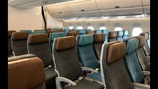 Singapore Airlines A350-900 Economy class Singapore to Hong Kong SQ860 (flight review #45)