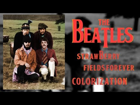 The Beatles - Strawberry Fields Forever - Colorisation Time-Lapse thumbnail