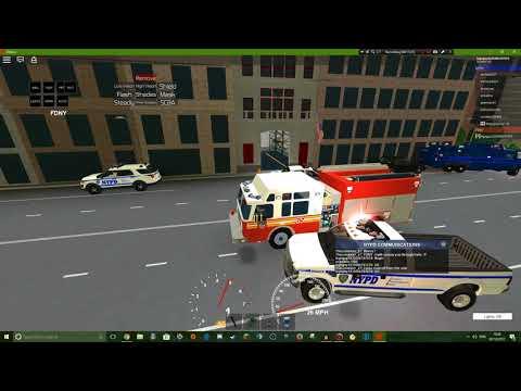 Roblox gameplay    NYC police sim #5    NYFD!