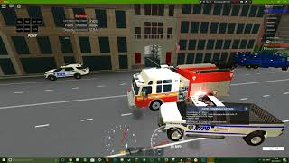 Roblox Gameplay || NYC Polizei sim #5 || NYFD!
