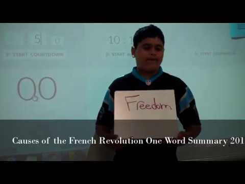 Causes of the French Revolution One Word Summary 2016