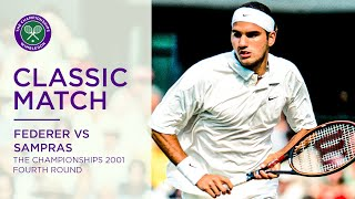 Roger Federer vs Pete Sampras | Wimbledon 2001 fourth round | Full Match
