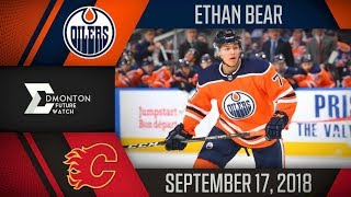 Ethan Bear | One Goal vs Calgary | Sep. 17, 2018
