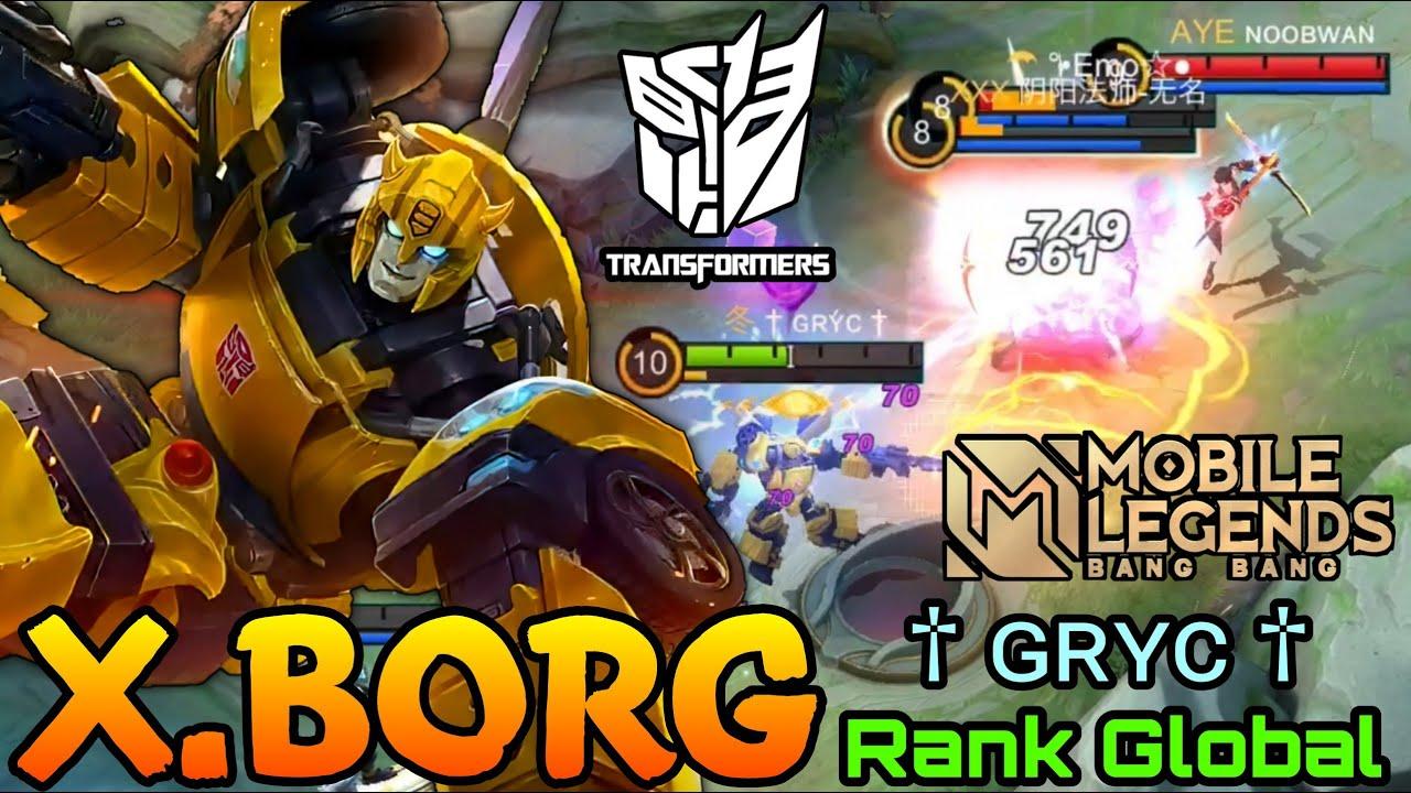 Download X.Borg Bumblebee New Skin MVP Gameplay MLBB x Transformers! -  Top Global X.Borg by † ɢʀʏᴄ † - MLBB