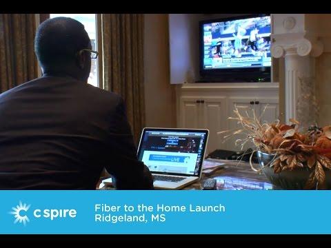 Ridgeland Mississippi Fiber to the Home Launch - C Spire