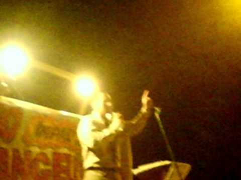 hno Ramon Fernandez predicando en barrio san gerardo