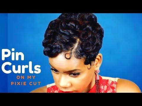 Pin Curls On My Pixie Cut | Relaxed Short Hair | Hair Tutorial | Leann DuBois