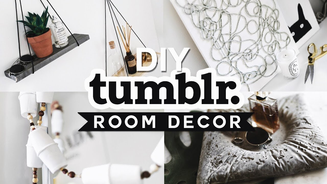 DIY TUMBLR ROOM DECOR (2019) Aesthetic + Affordable - Lone ...