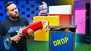 NERF Prop Hunt Challenge! Video Game Edition!!