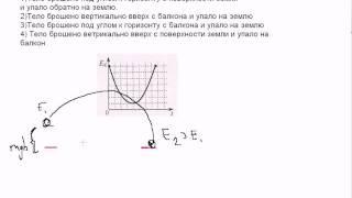 А25 ЕГЭ по физике.Переход энергии. Видео урок(На рисунке представлен схематичный вид графика изменения кинетической энергии тела с течением времени...., 2011-06-09T14:17:10.000Z)