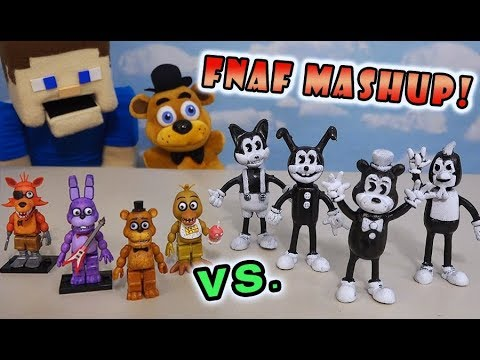 Five Nights at Freddys Mashup Bendy and the Ink Machine Bootleg Action Figure FNAFs