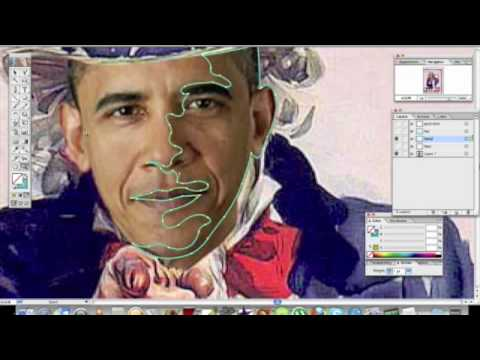 Google Art Image used for Obama Adobe Illustrator Vector Graphic by Atlanta Artist Corey Barksdale