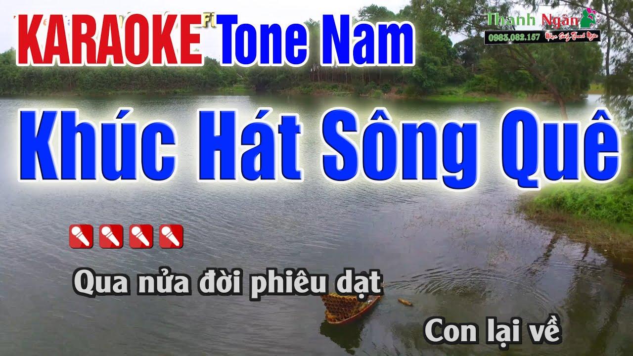 KHÚC HÁT SÔNG QUÊ Karaoke Tone Nam | Audio Tách 2Fi – Nhạc Sống Thanh Ngân