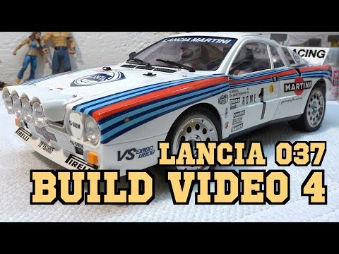Tamiya Lancia 037 Rally Build / Video 4 / Steps 33-43