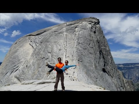 Half Dome Hike - The best (almost)completed views of the trail. 4K HD