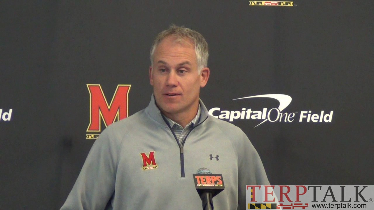 DJ Durkin presser before Indiana - Maryland Football - YouTube