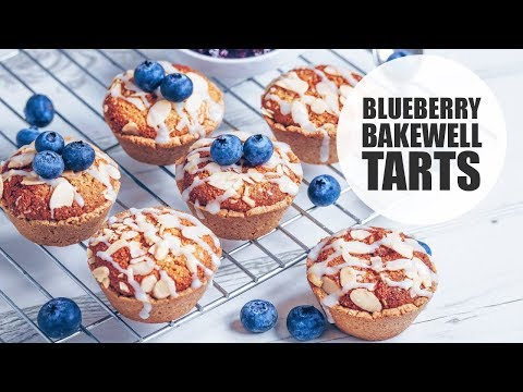Mini Blueberry Bakewell Tarts (Vegan & Gluten-free)