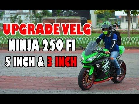 Modif Ninja 250 Fi Pakai Velg 5 3 Double Disc