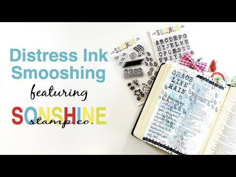 Distress Ink Smooshing featuring Sonshine Stamp Co