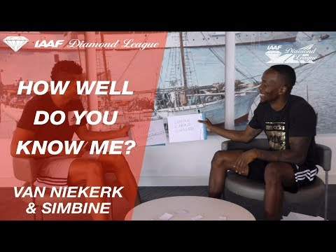 Wayde Van Niekerk and Akani Simbine play