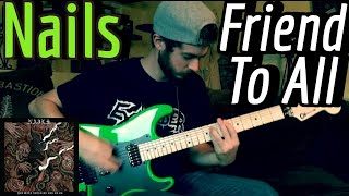 Nails - Friend To All (Guitar Cover w/ Tabs & Backing Track)