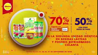 En Festiversario Metro 70% de descuento en bebidas lácteas y postres Colanta con tu tarjeta Cencosud