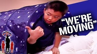 Dad Won't Let Out Of Control Kids Move Into New House | Supernanny