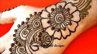 Easy Simple  Arabic Mehndi Designs For Hands|Arabic Henna Designs|Matroj Mehndi Designs