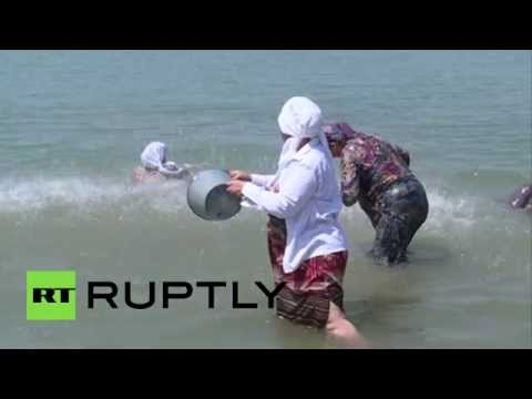 First women-only beach opens in Chechnya, Russia
