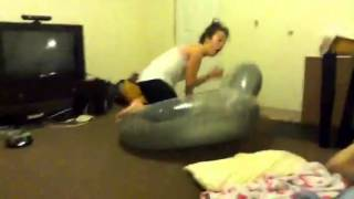 Inflatable Chair Fail