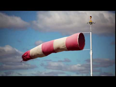 Windsock Blowing in the Wind - Royalty Free HD Video Stock Footage.